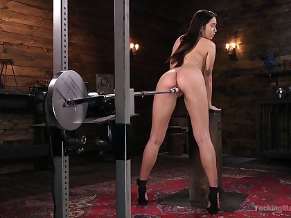 Wondrous emotional busty Karlee Grey has some sex toys for petting twat