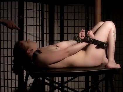 She loves to be tied close by and painful by the brush lover and a fuck machine