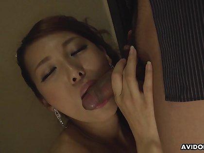 Japanese beauty, Mai Takizawa sucks dick, uncen