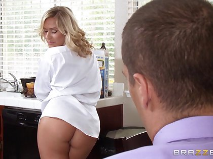 Peaches sluts riding one large dick - Alena Croft and Kennedy Leigh