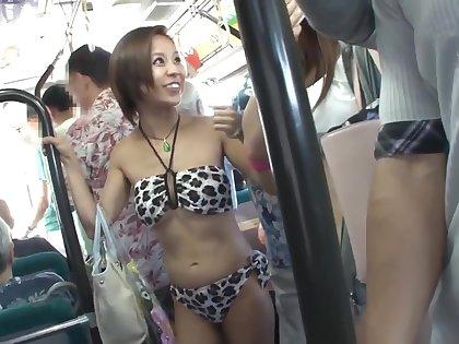 NHDTB - 316 - Swimsuit aloft a bus... fat mistake