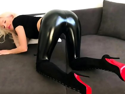 Latex Redhead Fuck about Off Instructions Cucumber In Your Ass Joi