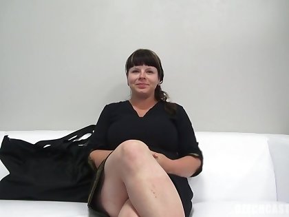 Round dark-haired with ginormous, all-natural bosoms, Zdena throated a stranger's lollipop at near a porno vid audition