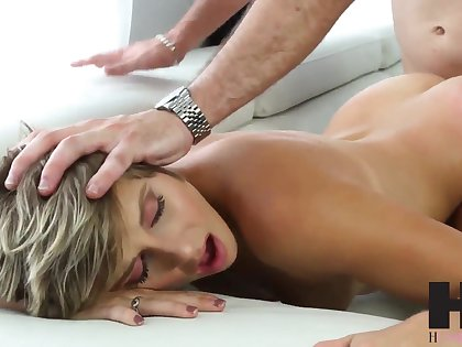 Makenna X gives a blowjob and gets will not hear of pussy licked with respect to 69 position