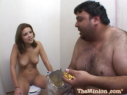 Fat dude eats added to fucks wet pussy of adorable unskilful Katie Thomas