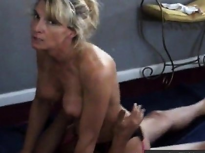 Girl the House dirty while cuckold tighten one's belt films her with stuff and nonsense