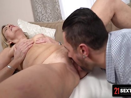 Lusty Cougar Takes A Drilling